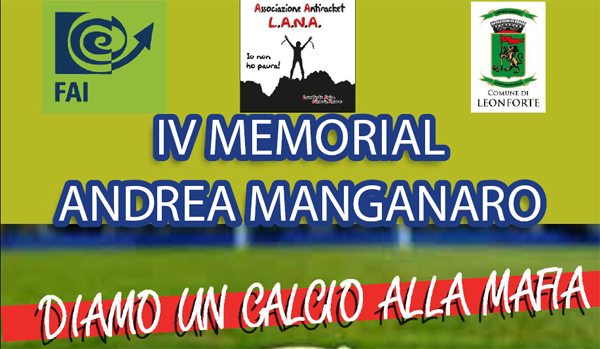 IV Memorial Andrea Manganaro – Diamo un calcio alla mafia